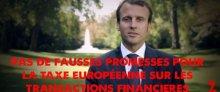 Signez l'appel : « M.Macron, pas de fausses promesses pour la taxe sur(...)
