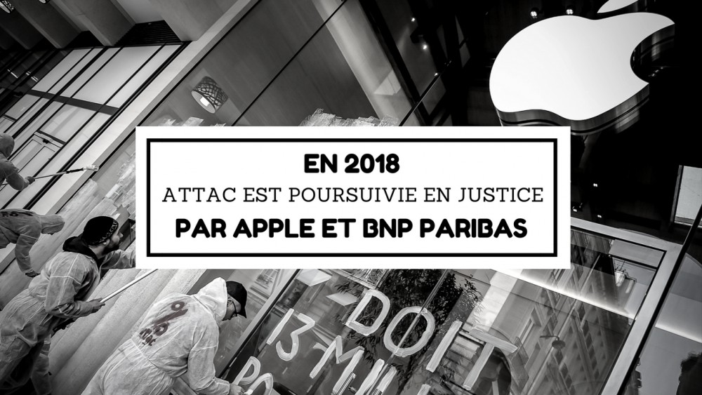 Apple contre Attac au tribunal — Justice