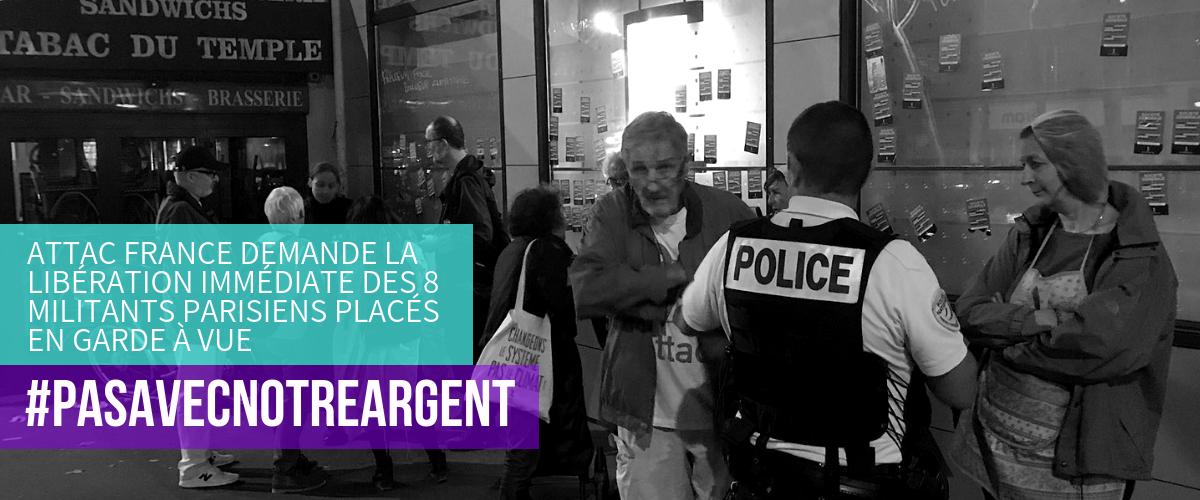URGENT : appel à rassemblement devant le commissariat du 4e arrondissement de Paris, pour exiger la libération de nos 8 camarades