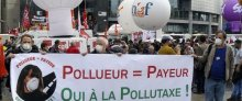Action pollutaxe à Paris