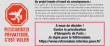 Le tract unitaire contre la privatisation d'ADP