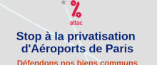 Le tract d'Attac contre la privatisation d'ADP