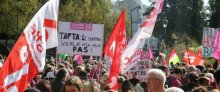 Photos de la mobilisation du 11 octobre contre le TAFTA