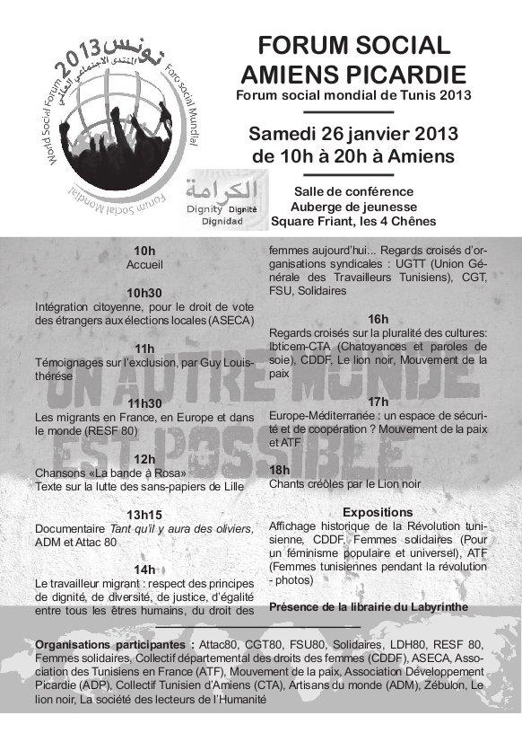 Amiens Picardie, FSM de Tunis