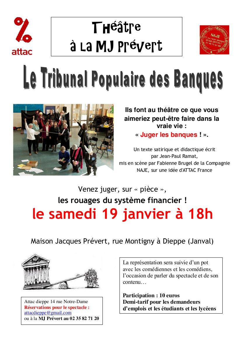 Tribunal populaire des banques, Attac Dieppe