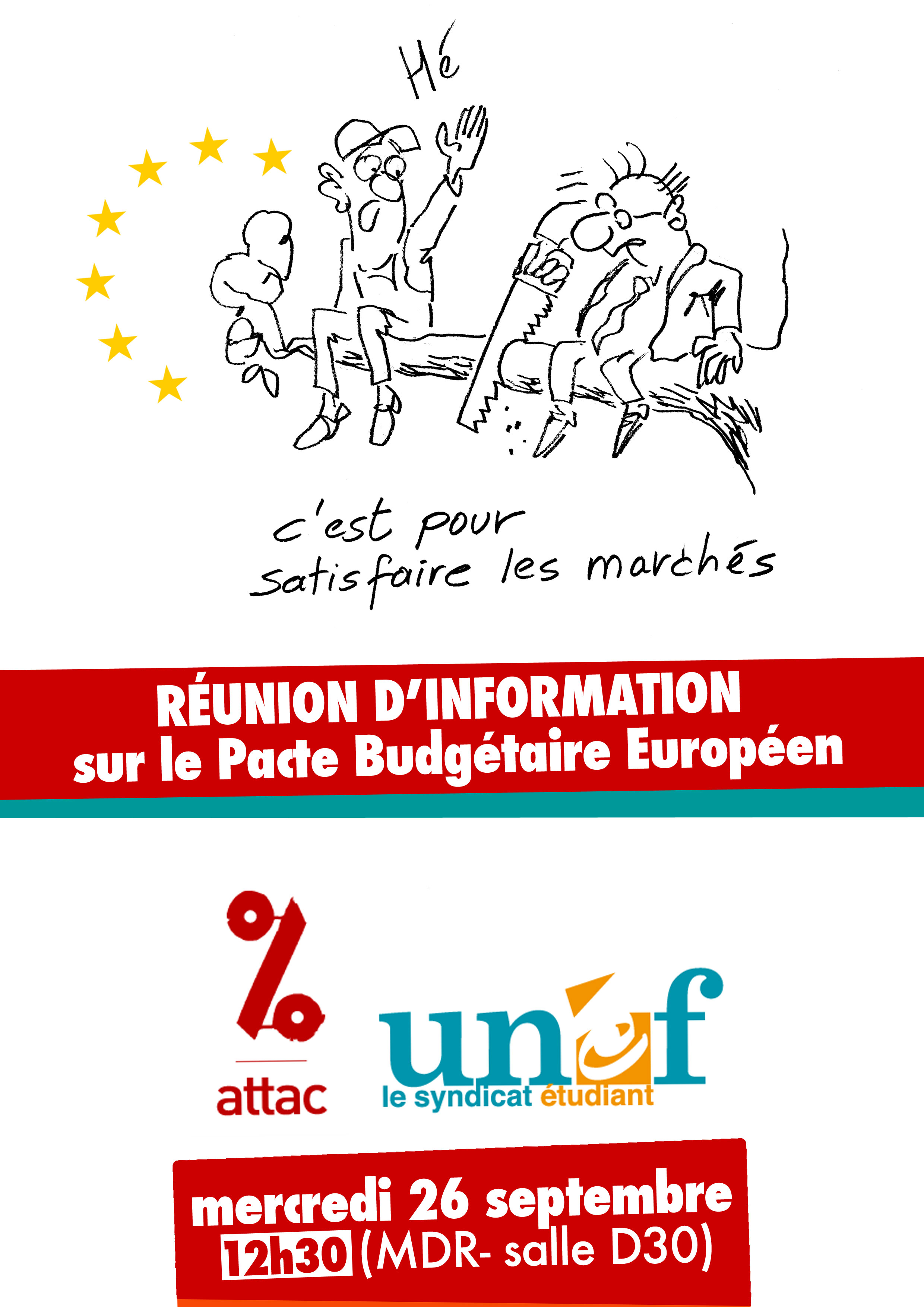 Affiche réunion d'information Pacte budgétaire