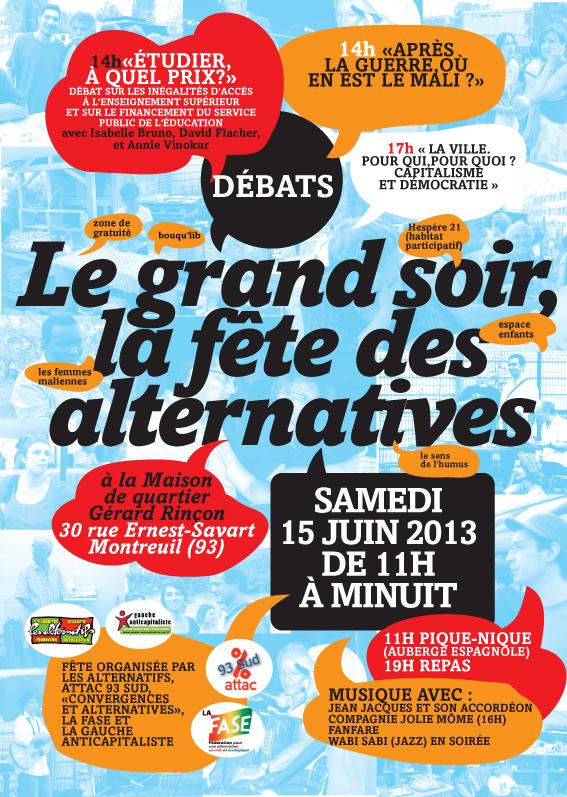 Montreuil : Le Grand soir, la fête des alternatives