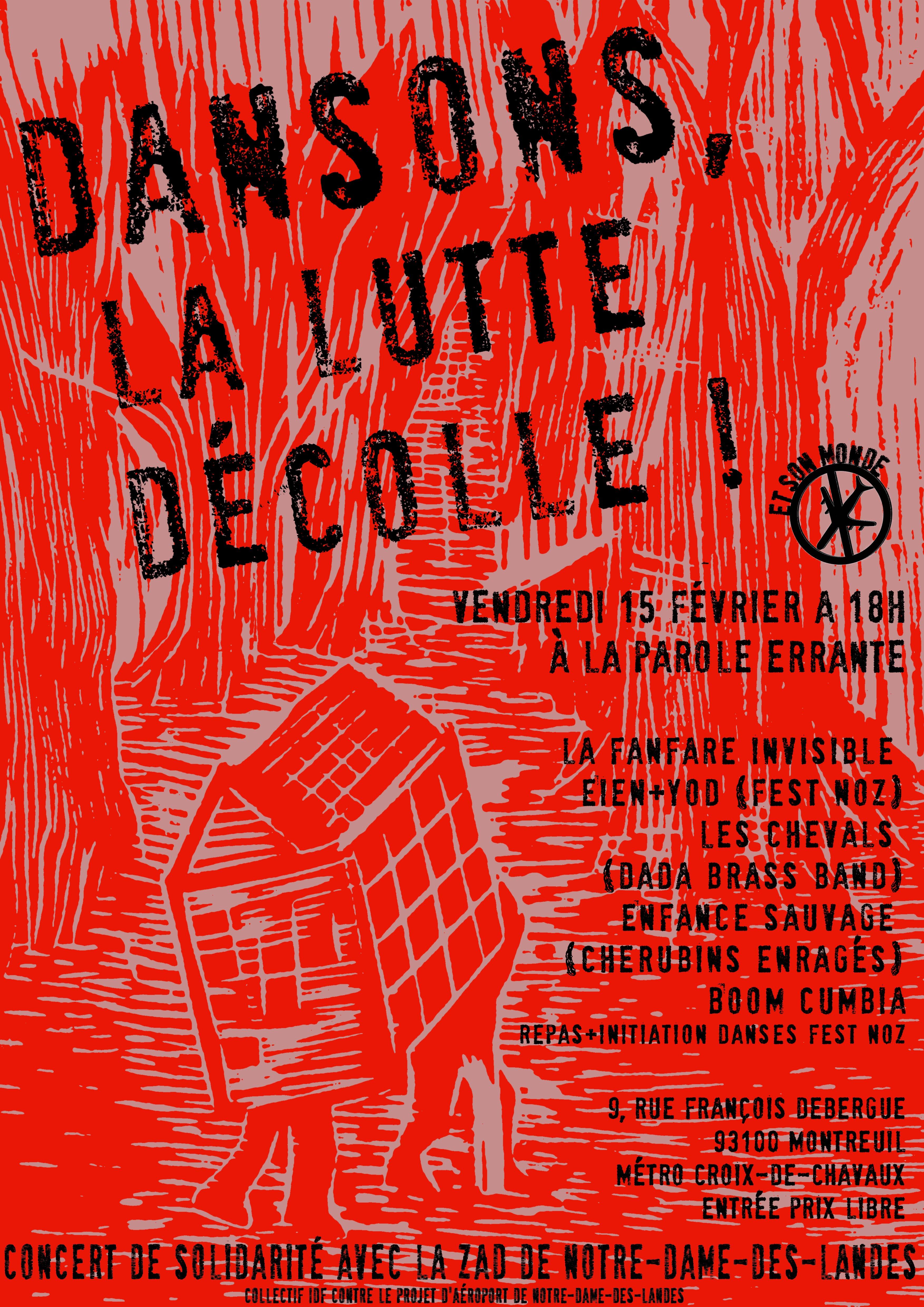 Dansons, la lutte décolle, concert de soutien à Notre-Dame-des-Landes