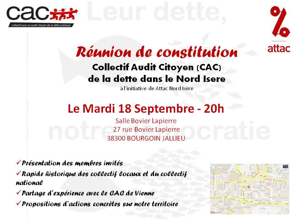 Réunion de lancement du CAC Nord-Isère