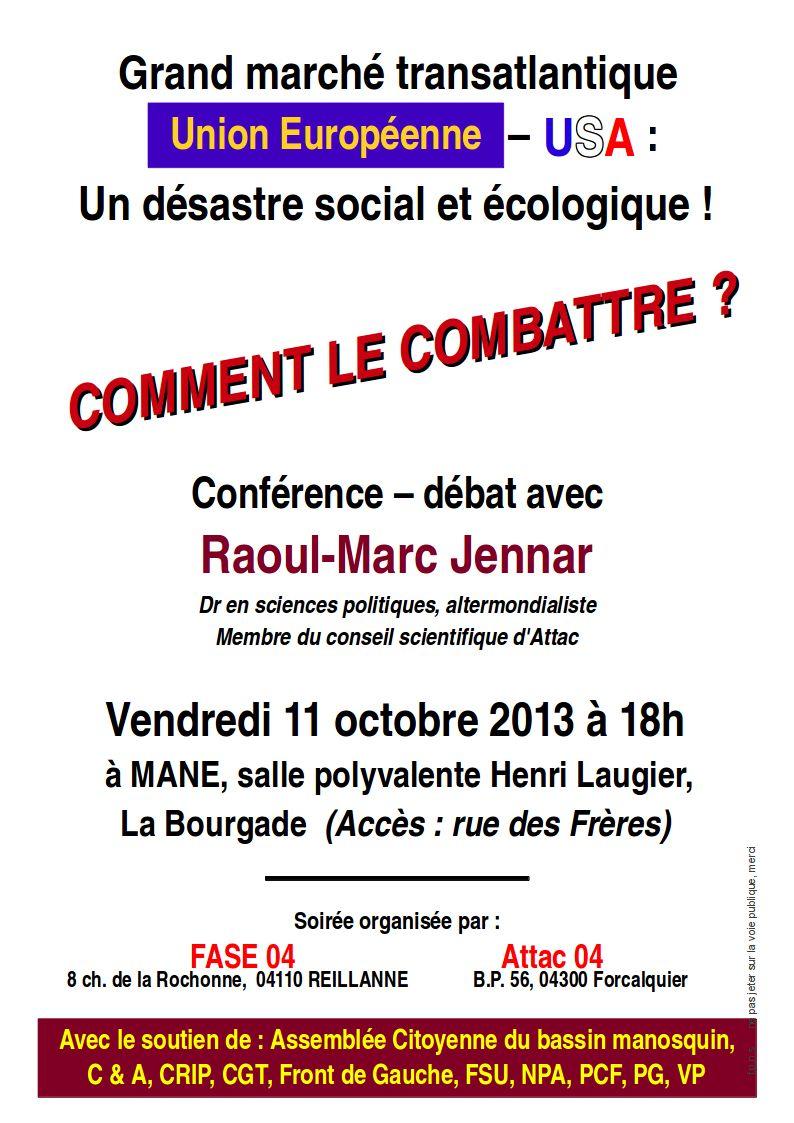 ATTAC 04, Conférence « Le Marché transatlantique »